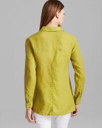Eileen Fisher Classic Collar Boxy Shirt - Lyst