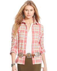 Polo Ralph Lauren Plaid Cotton Workshirt - Lyst