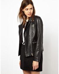 Hide - Dorothy Long Line Biker Jacket with Heavy Zips - Lyst