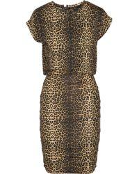 Maje Katanga Leopard-print Stretch-jersey Mini Dress - Lyst