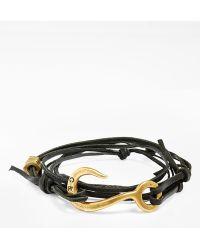 Giles & Brother Men'S Hook Wrap Bracelet - Brass/ Grey - Lyst