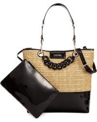 Calvin Klein Straw Unlined Tote - Lyst