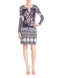 Diane von Furstenberg | Reina Printed Silk Dress | Lyst