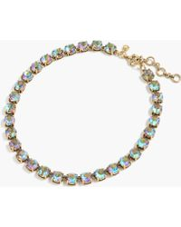 J.Crew | Emerald-colored Crystal Necklace | Lyst