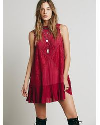 Free People Womens Fp One Angel Lace Dress - Lyst