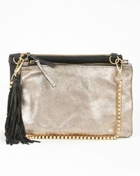 Day Birger Et Mikkelsen Leather Cross Bodynight Goldtile Dual - Lyst