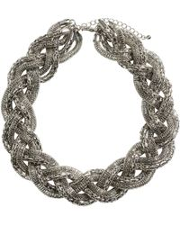 H&M Braided Necklace - Lyst