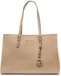 Michael by Michael Kors Jet Set Leather Large Eastwest Tote - Lyst