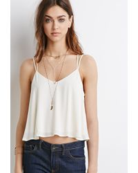 Forever 21 Lace-Paneled Y-Back Cami - Lyst