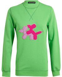 Ostwald Helgason - Puppy Love Appliqued Cotton Sweatshirt - Lyst