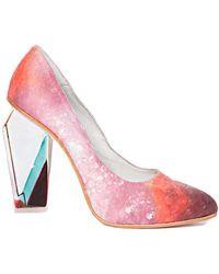 Pixie Market Miista Crystal Light Heels - Lyst