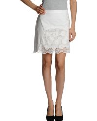 See By Chloé White Mini Skirt - Lyst