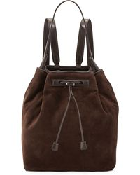 The Row Mini Suede Backpack - Lyst