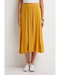 Forever 21 Stretch-Knit A-Line Skirt - Lyst