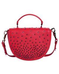 Christian Louboutin Women'S Studded Calfskin Messenger Bag - Black - Lyst