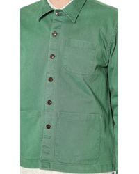 Brooklyn Tailors - Washed Poplin Overshirt - Lyst
