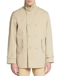 Ben Sherman Double-Breasted Cotton-Blend Coat - Lyst