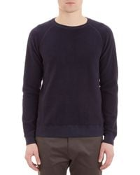 Barneys New York Terrycloth Sweatshirt - Lyst