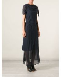 Ann Demeulemeester Asymmetric Draped Wrap Dress - Lyst