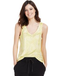 Calvin Klein Jeans Sleeveless Python-Print Tank Top - Lyst