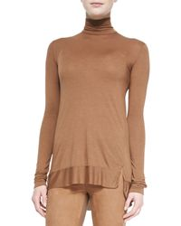 Donna Karan New York Long Sleeve Turtleneck Top - Lyst