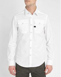 G-Star RAW | White Correct Landoh Press-studs Slim-fit Shirt | Lyst