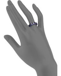 John Hardy Naga Enamel & Sterling Silver Dome Ring - Lyst