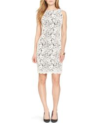 Ralph Lauren Lauren Sleeveless Lace Dress - Bloomingdale'S Exclusive - Lyst