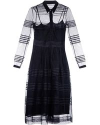 Burberry Prorsum - Pintucked Cotton-tulle Shirtdress - Lyst