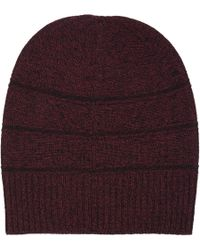 Barneys New York Reverse-stripe Knit Hat - Lyst