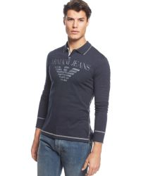 Armani Jeans Big Eagle Polo - Lyst