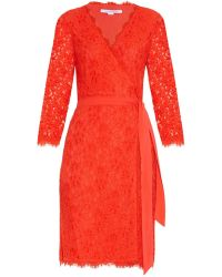 Diane von Furstenberg Julianna Floral Lace Dress - Lyst