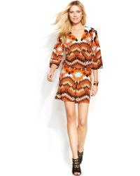 Inc International Concepts Bell-Sleeve Printed Romper - Lyst