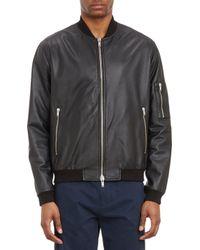 Basco - Leather Bomber Jacket - Lyst