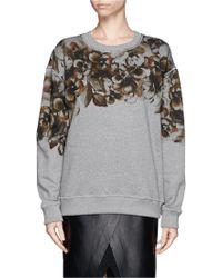 Jason Wu Floral-Print Relaxed-Fit Sweatshirt - Lyst