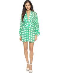 Issa Poppette Dress - Green Zest - Lyst