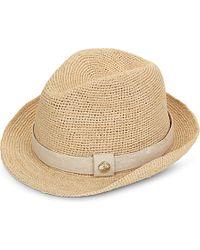 Heidi Klein - Natural Raffia Fedora Hat - For Women - Lyst