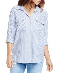 Two By Vince Camuto - Striped Utility Shirt - Lyst