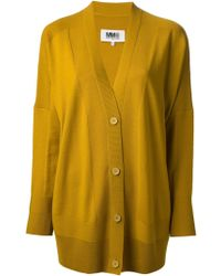 Mm6 By Maison Martin Margiela Oversized Cardigan - Lyst