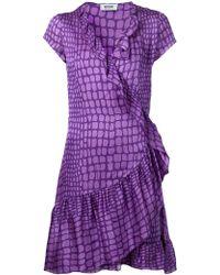 Moschino Cheap & Chic Ruffled Wrap Dress - Lyst