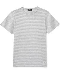 A.P.C. Striped Jersey T-shirt - Lyst