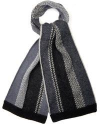 Paul Smith Striped-Knit Scarf - Lyst