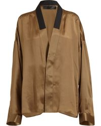 Haider Ackermann Relaxed Silk Shirt - Lyst
