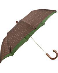 Barneys New York Brown Pindot Umbrella - Lyst