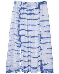 Olive & Oak - Tie Dye Midi Skirt - Lyst