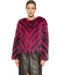 J. Mendel - Dyed Fox Fur Jacket - Lyst