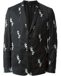 Dior Homme Floral Pinstriped Blazer - Lyst