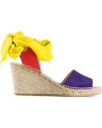 Etro Espadrille Wedge Sandals - Lyst