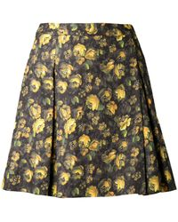 Band Of Outsiders Floral Print Skirt - Lyst