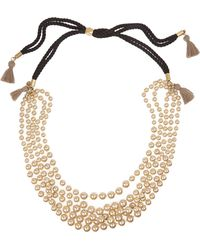 J.Crew Faux Pearl and Cotton Tassel Necklace - Lyst
